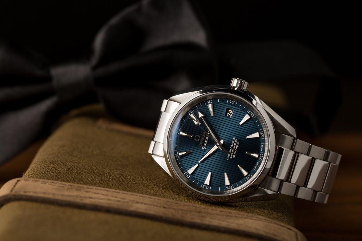 James Bond Omega Aqua Terra Blue Dial