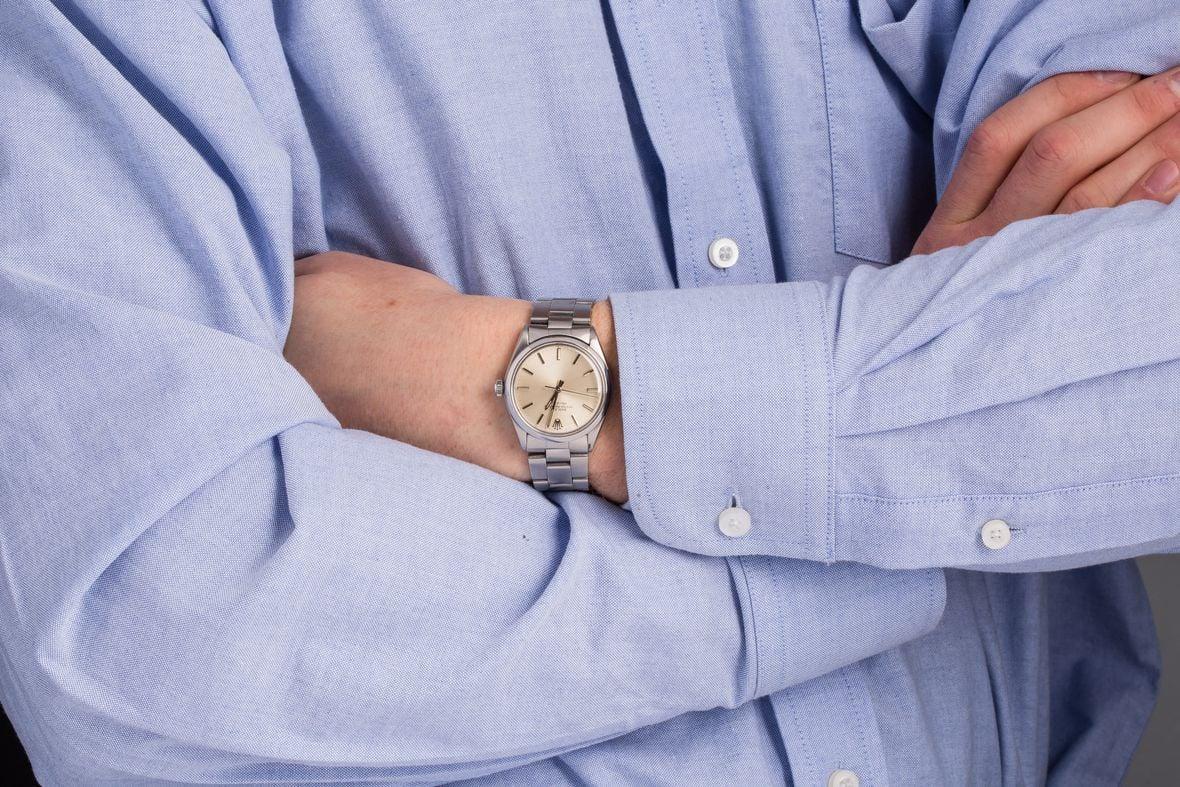 Vintage Rolex 5500 Air-King Wristshot
