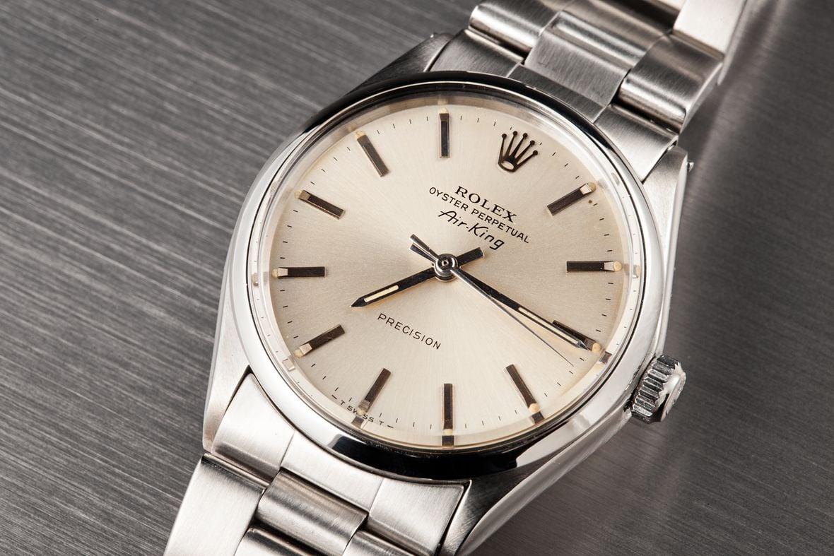 Vintage Rolex 5500 Air-King Precision Silver Dial