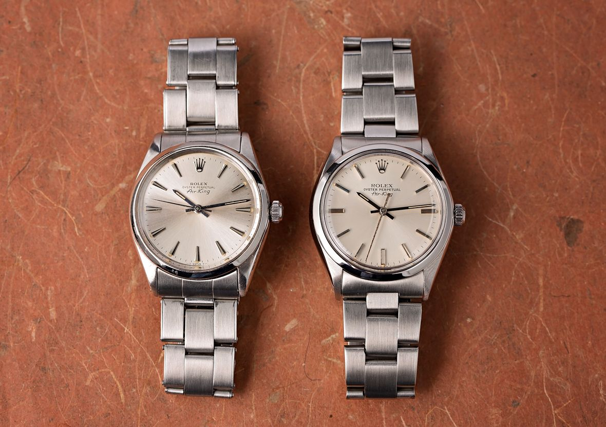 Vintage Rolex 5500 Stainless Steel Air-King Watches