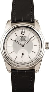 PreOwned Tudor Glamour Double Date 57000 Silver Dial