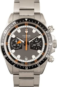 Tudor Heritage Chrono Stainless Steel Mens Watch 70330
