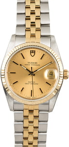 Tudor Prince Oysterdate 74033 Two Tone Watch